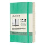 【2022年1月始まり】 モレスキン(MOLESKINE) グリーン ソフト ポケット ウィークリー DSK4612WN2Y22 アイスグリーン 月曜始まり│手帳・ダイアリー ダイアリー