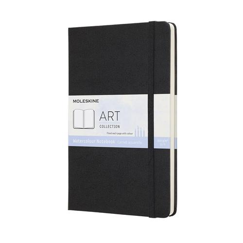 モレスキン アート 水彩画用ノートブック ハードカバー ラージサイズ ブラック│画材 スケッチブック