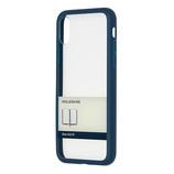 【iPhoneX】 モレスキン ハードケース ペーパーバンド柄 719046 ブルー