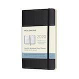 【2020年1月始まり】 モレスキン 12ヶ月ダイアリー マンスリーダイアリー ソフトカバー Pocket DSB12MN2Y20 ブラック 月曜始まり
