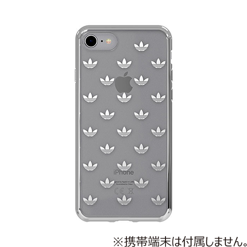 【iPhone8/7】 adidas Originals TPU Clear Case Silver Logo