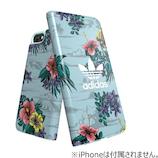 【iPhone8Plus/7Plus/6SPlus/6Plus】 adidas手帳ケース Floral