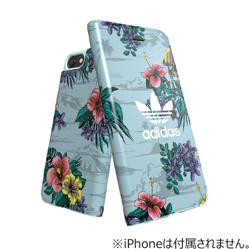 【iPhone8/7/6S/6】 adidas手帳ケース Floral