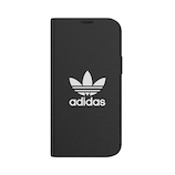 【iPhone12‌mini】 adidas Originals Booklet Case BASIC ブラック/ホワイト