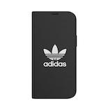 【iPhone12mini】 adidas Originals Booklet Case BASIC ブラック/ホワイト│携帯・スマホケース iPhoneケース