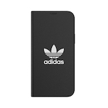 【iPhone12‌/‌12‌Pro】 adidas Originals Booklet Case BASIC ブラック/ホワイト