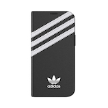 【iPhone12‌mini】 adidas Originals Booklet Case SAMBA ブラック/ホワイト