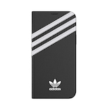 【iPhone12‌/‌12‌Pro】 adidas Originals Booklet Case SAMBA ブラック/ホワイト