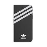 【iPhone12/12Pro】 adidas Originals Booklet Case SAMBA ブラック/ホワイト│携帯・スマホケース iPhoneケース