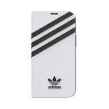 【iPhone12‌mini】 adidas Originals Booklet Case SAMBA ホワイト/ブラック