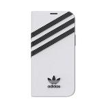 【iPhone12mini】 adidas Originals Booklet Case SAMBA ホワイト/ブラック
