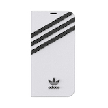 【iPhone12‌/‌12‌Pro】 adidas Originals Booklet Case SAMBA ホワイト/ブラック