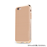 【iPhone6s】4.7インチ INO INFINITY クロム ベージュ×ゴールド