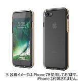 【iPhone8/iPhone7】 motomo アクロームシールド プレミアムケース ゴールド