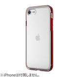 【iPhoneSE(第2世代)/8/7/6s/6】モトモ(motomo) イノ アクロムシールド(INO ACHROME SHIELD) 背面クリアケース マッドレッド│携帯・スマホケース iPhoneケース