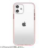 【iPhone12mini】 motomo INO ACHROME SHIELD レッド│携帯・スマホケース iPhoneケース