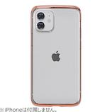 【iPhone12mini】 motomo INO LINE INFINITY CLEAR ローズゴールド│携帯・スマホケース iPhoneケース