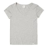 Boody Vネック Tシャツ XS ライトグレー