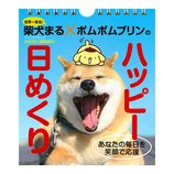 【日めくり】 柴犬まる×ポムポムプリンのハッピー日めくり