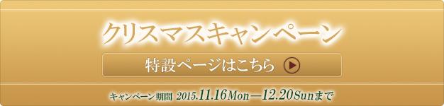 クリスマスキャンペーン特設ページ キャンペーン期間 11月16日(月)〜12月20日(日)まで