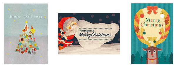 ハンズオリジナルクリスマスカード イメージ